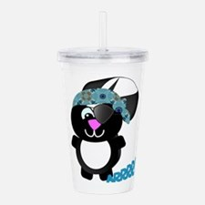 skunk pirate.png Acrylic Double-wall Tumbler