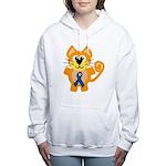 blue ribbon orange kitty cat copy.png Women's Hood