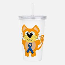 blue ribbon orange kitty cat copy.png Acrylic Doub
