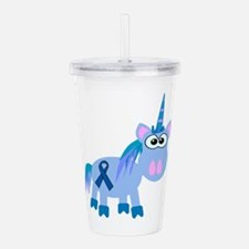 blue ribbon unicorn copy.png Acrylic Double-wall T