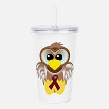 burg ribbon owl.png Acrylic Double-wall Tumbler