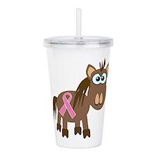pink ribbon horse.png Acrylic Double-wall Tumbler