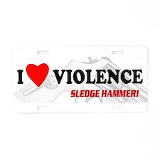 Cute The hammer Aluminum License Plate