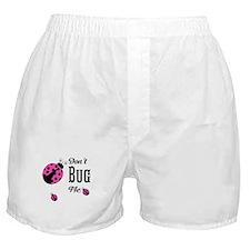 Cute Pink Ladybugs Don't Bug Me Boxer Shorts