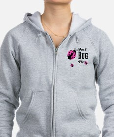 Cute Pink Ladybugs Don't Bug Me Zip Hoodie