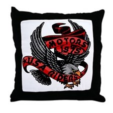 Cute Eagle riders Throw Pillow