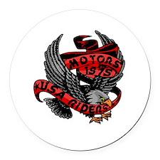 Cute Eagle riders Round Car Magnet
