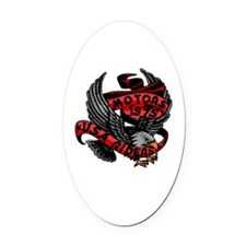 Unique Eagle riders Oval Car Magnet