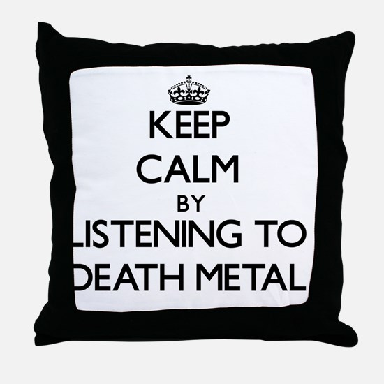 Cool Death metal Throw Pillow