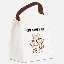 Custom Monkey Love Canvas Lunch Bag