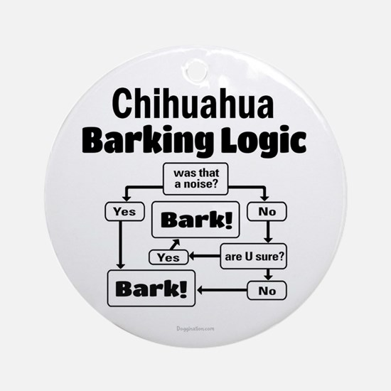 Chihuahua Logic Ornament (Round)