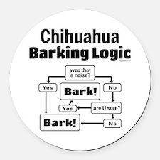 Chihuahua Logic Round Car Magnet