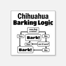 "Chihuahua Logic Square Sticker 3"" x 3"""