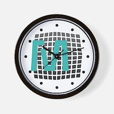 Cool Mint Monogram Wall Clock