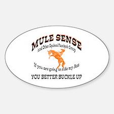 Unique Mule Sticker (Oval)