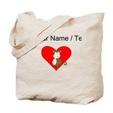 Custom Fat Monkey Heart Tote Bag