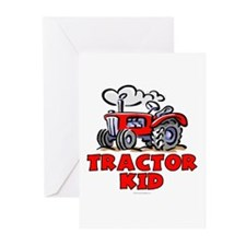 Red Tractor Kid Greeting Cards (Pk of 10)