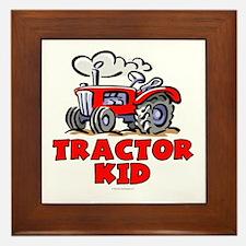 Red Tractor Kid Framed Tile