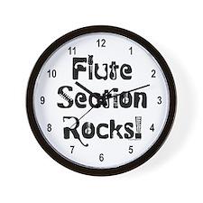 Flute Section Rocks Wall Clock