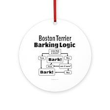 Boston Terrier Logic Ornament (Round)