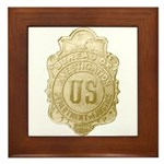 Bureau of Investigation Framed Tile