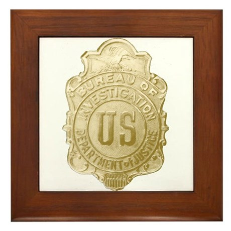 Bureau of Investigation Framed Tile