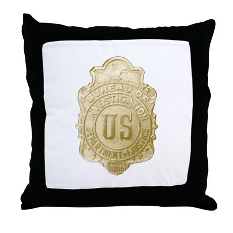 Bureau of Investigation Throw Pillow