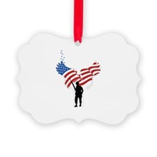 Soldiers Angel Flag Ornament