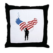 Soldiers Angel Flag Throw Pillow