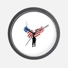 Soldiers Angel Flag Wall Clock