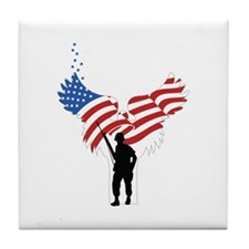 Soldiers Angel Flag Tile Coaster
