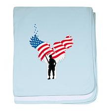 Soldiers Angel Flag baby blanket