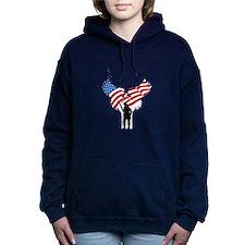 Soldiers Angel Flag Women's Hooded Sweatshirt