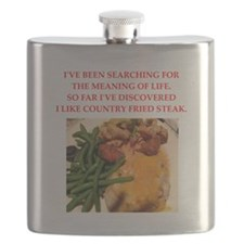 country fried steak Flask