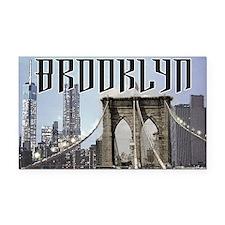 Brooklyn Rectangle Car Magnet