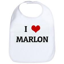 I Love MARLON Bib