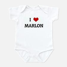 I Love MARLON Infant Bodysuit