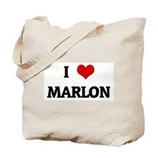 I Love MARLON Tote Bag