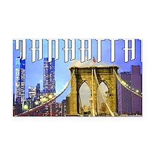 Manhattan Rectangle Car Magnet