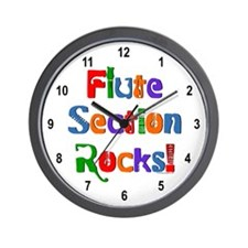 Flute Section Rocks Color Wall Clock