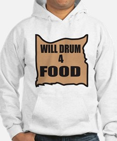 Will Drum 4 Food Hoodie