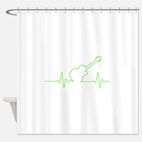 Funny Guitar Shower Curtain