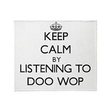 Cute Keep calm Throw Blanket