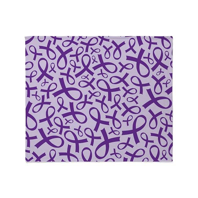 Alzheimer S Purple Ribbon Throw Blanket By Alzheimerstshirts