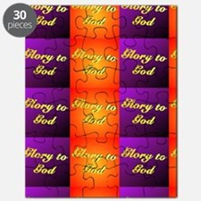 Glory to God Drapes and Puzzle