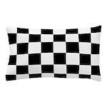 Checkerboard Black White Pillow Case