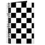 Checkerboard Black White Journal