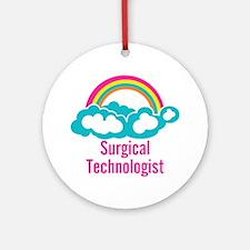 Cloud Rainbow Surgical Technologi Ornament (Round)