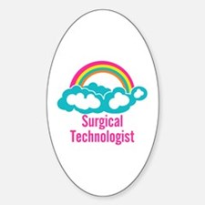 Cloud Rainbow Surgical Technologist Decal
