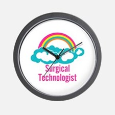 Cloud Rainbow Surgical Technologist Wall Clock